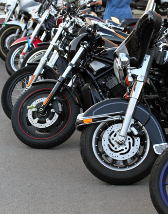 Motobikes In a Row